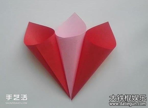 简易花朵折纸方法步骤,简单儿童折纸大全图解教程图片