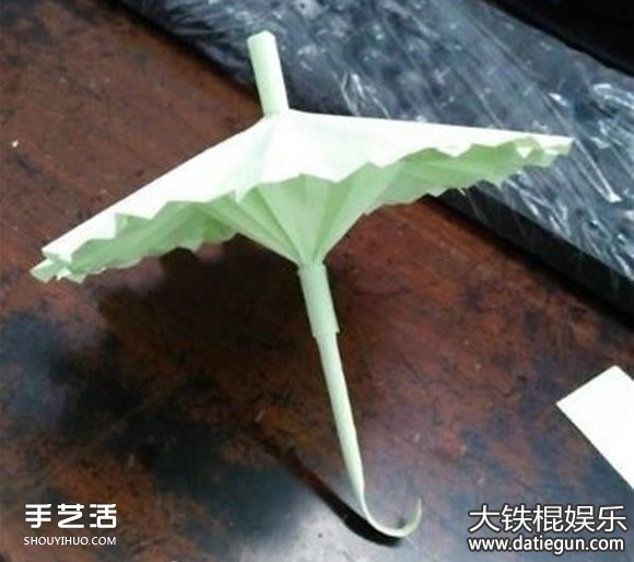 简易小雨伞折纸方法步骤,简单儿童折纸大全图解教程图片