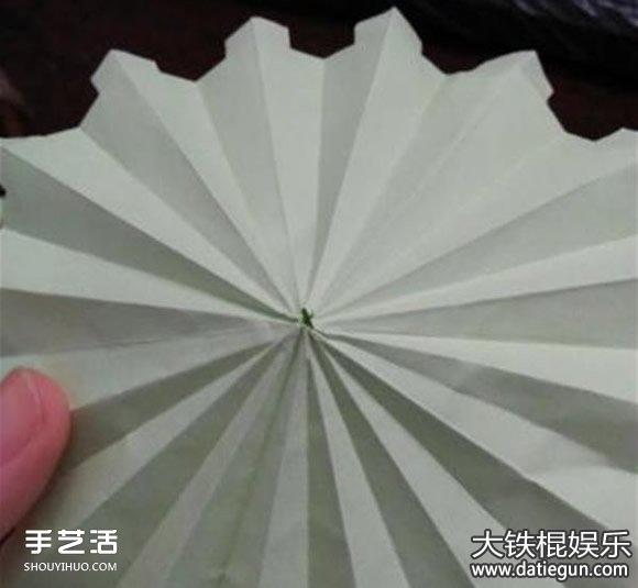 简易小雨伞折纸方法步骤,简单儿童折纸大全图解教程