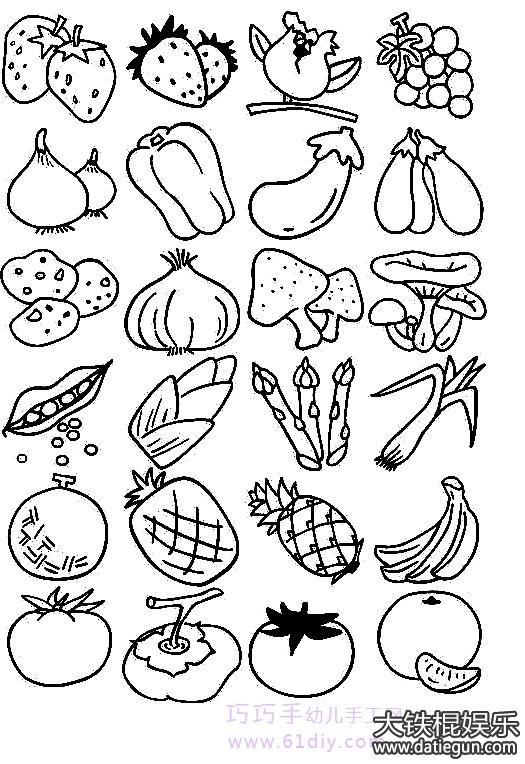 画水果的简笔画画法步骤